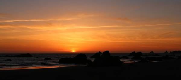 Photograph - Sunset At Harris Beach - 6 by Christy Pooschke