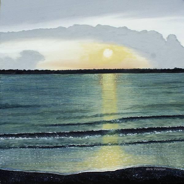 Hilton Head Island Painting - Sunset At Hilton Head by Herb Dickinson