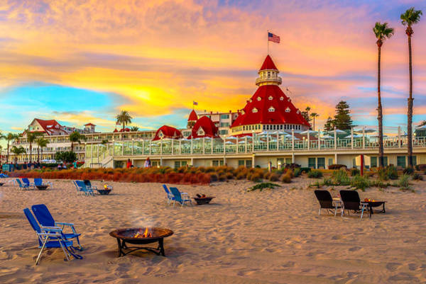 Del Photograph - Sunset At Hotel Del Coronado by James Udall