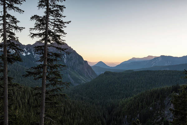 Photograph - Sunset At Inspiration Point In Mount Rainier by Belinda Greb