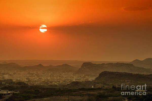 Photograph - Sunset At Jodhpur by Yew Kwang