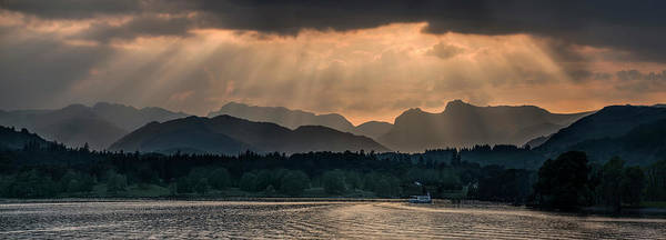 Photograph - Sunset At Lake District by Jaroslaw Blaminsky