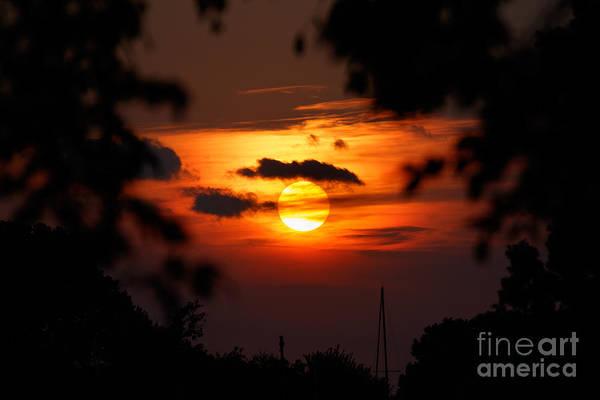 Photograph - Sunset At Lake Hefner by Richard Smith