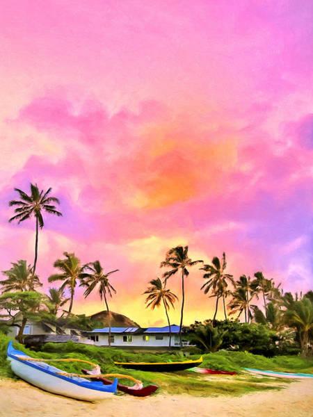 Painting - Sunset At Lanikai by Dominic Piperata