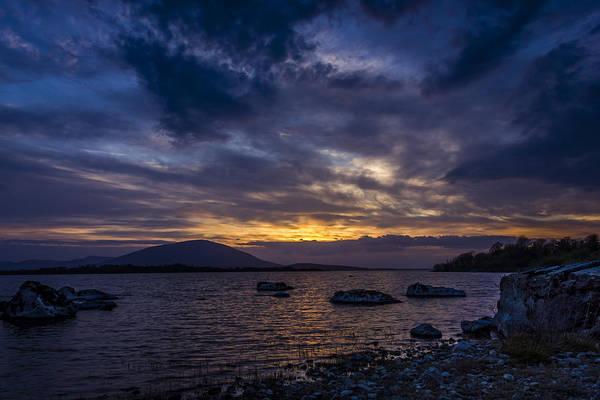 Conn Wall Art - Photograph - Sunset At Loch Conn, County Mayo, Ireland by Michael Kinsella