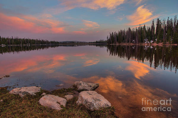 Photograph - Sunset At Lost Lake by Spencer Baugh