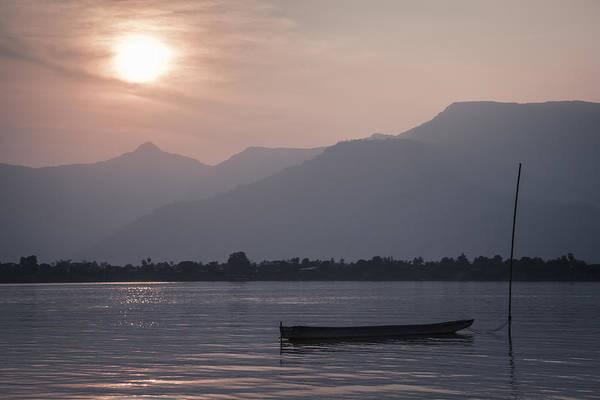 Photograph - Sunset At Mekong by Maria Heyens