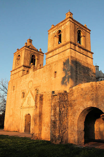 Sunset At Mission Concepcion Art Print