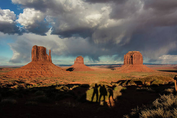 The Mitten Photograph - Sunset At Monument Valley by John Bartelt