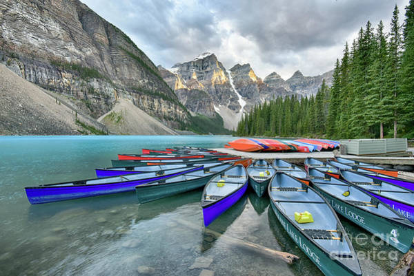 Wall Art - Photograph - Sunset At Moraine Lake by Paul Quinn