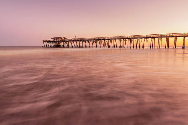 Photograph - Sunset At Myrtle Beach North Carolina Fishing Pier by Ranjay Mitra