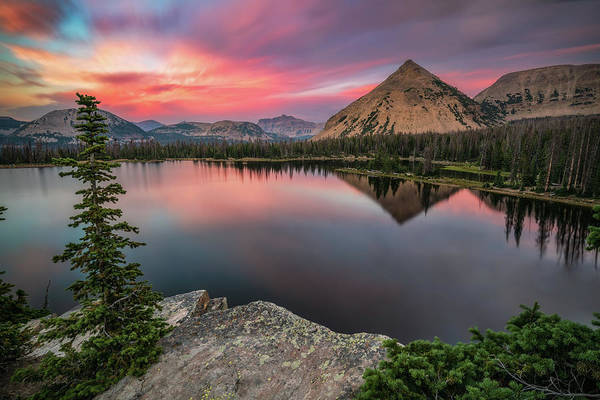 Photograph - Sunset At Notch Lake by James Udall
