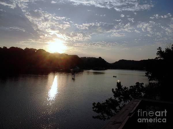Sunset At Occoquan Art Print