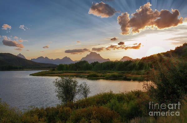 Photograph - Sunset At Oxbow Bend by Sharon Seaward
