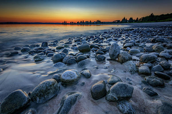 John I Photograph - Sunset At Pemaquid Beach by Rick Berk