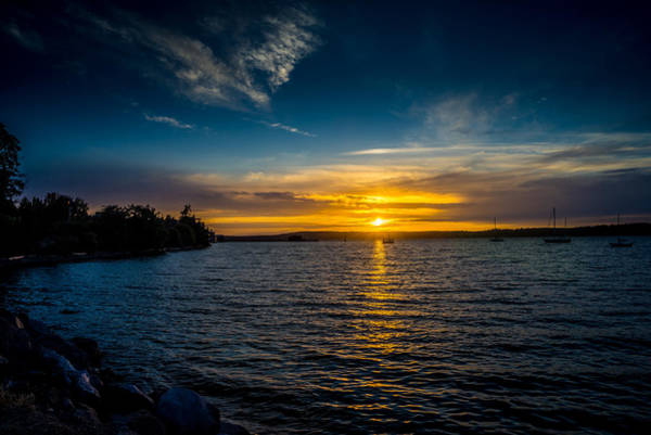 Photograph - Sunset At Penn Cove by TL  Mair