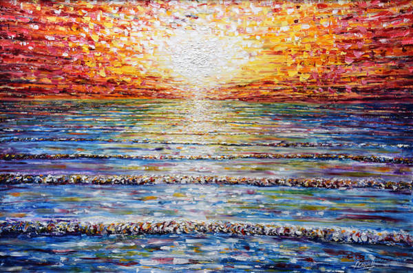 Painting - Sunset At Saunton Sands Beach Devon by Pete Caswell