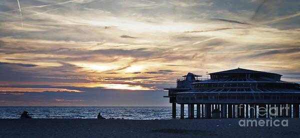 Scheveningen Pier Photograph - Sunset At Scheveningen by Neil Hindle