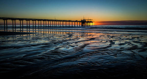 Scripps Pier Photograph - Sunset At Scripps Pier by Creigh Photography