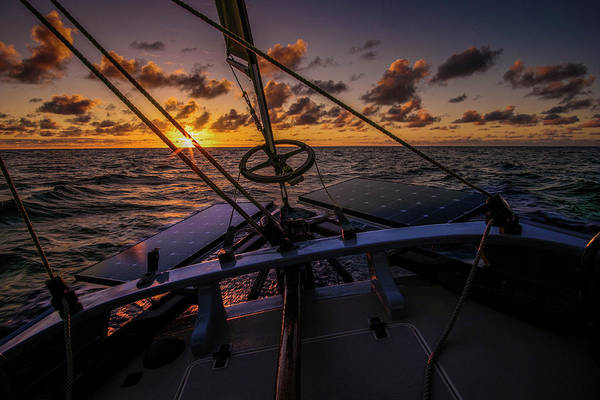 Photograph - Sunset At Sea by Gary Felton
