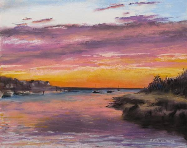 Wall Art - Painting - Sunset At Sesuit Harbor by Jack Skinner