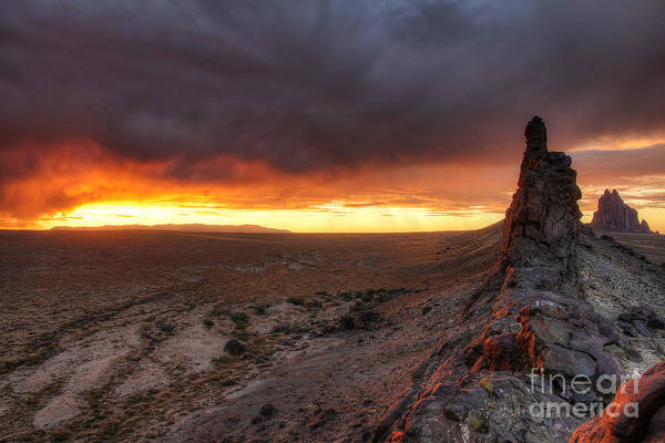 Photograph - Sunset At Ship Rock by Spencer Baugh