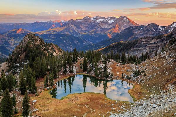 Lake Canyon Photograph - Sunset At Silver Glance Lake. by Johnny Adolphson