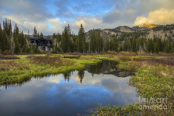 Photograph - Sunset At Silver Lake Outlet by Spencer Baugh