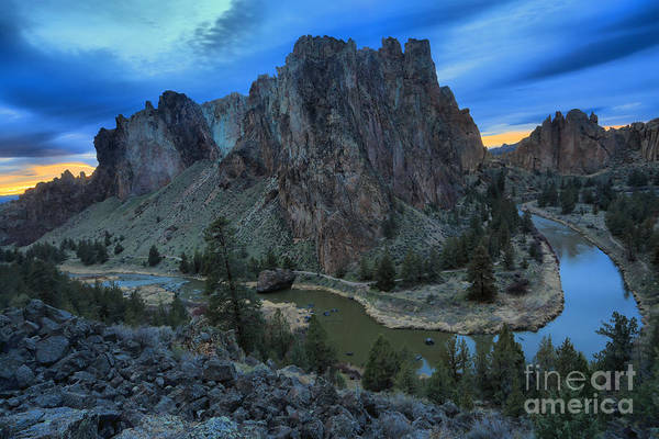 Redmond Photograph - Sunset At Smith Rock by Adam Jewell