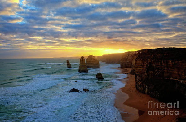 Photograph - Sunset At The 12 Apostles by Franz Zarda
