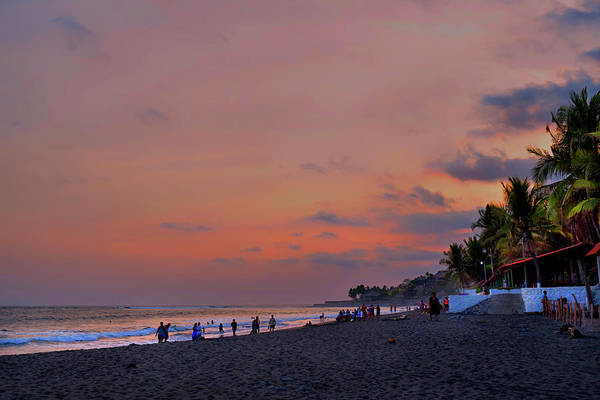 La Libertad Photograph - Sunset At The Beach - El Salvador by Totto Ponce