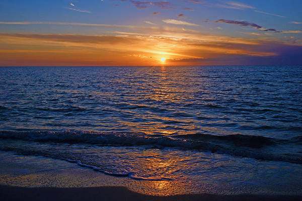 Sunset At The Beach In Naples, Fl Art Print