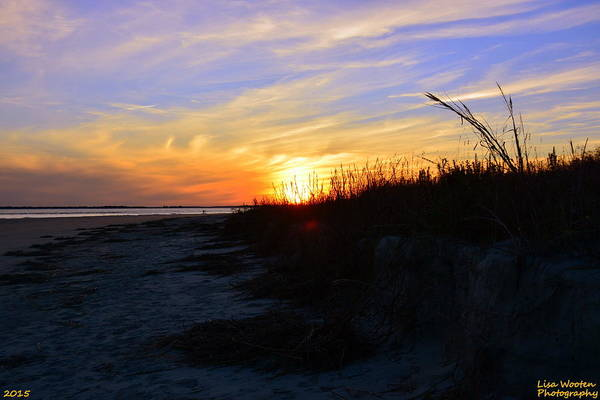 Photograph - Sunset At The Beach by Lisa Wooten
