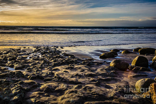 Sunset At The Beach Art Print