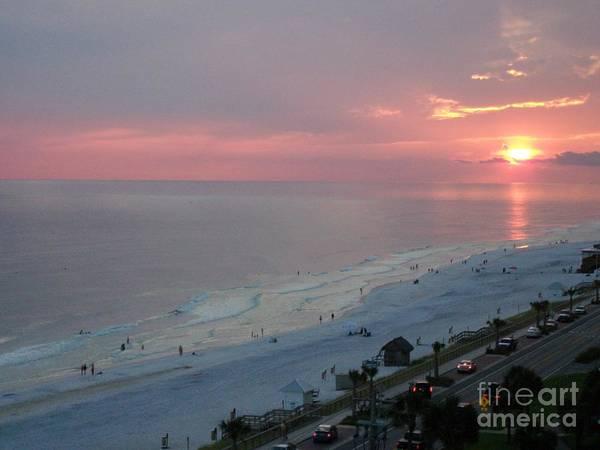 Photograph - Sunset At The Beach by Tammie J Jordan