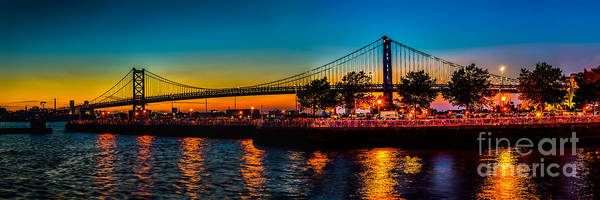 Photograph - Sunset At The Ben Franklin by Nick Zelinsky