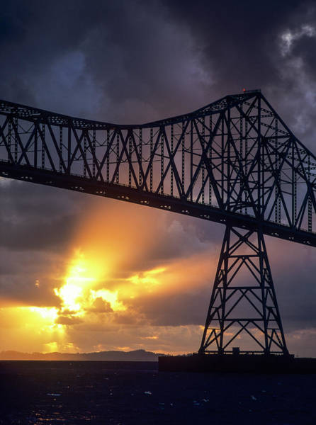 Photograph - Sunset At The Bridge by Robert Potts