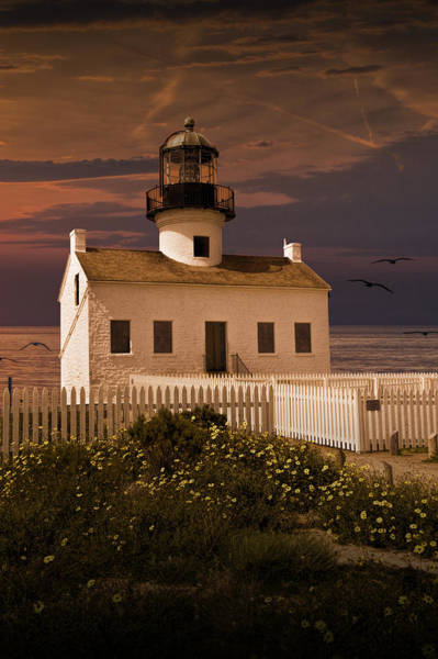 Photograph - Sunset At The Cabrillo National Monument Lighthouse by Randall Nyhof