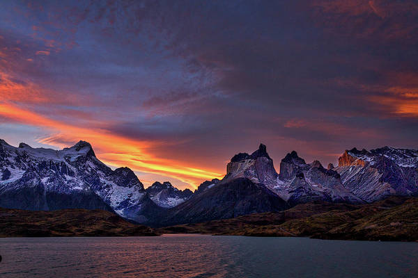 Photograph - Sunset At The Cuernos #2 - Patagonia by Stuart Litoff
