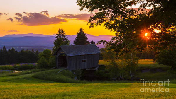 Photograph - Sunset At The Foster Covered  by New England Photography