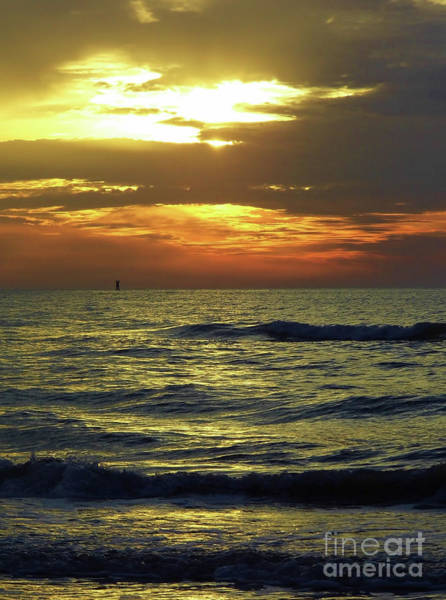 Photograph - Sunset At The Gulf by D Hackett