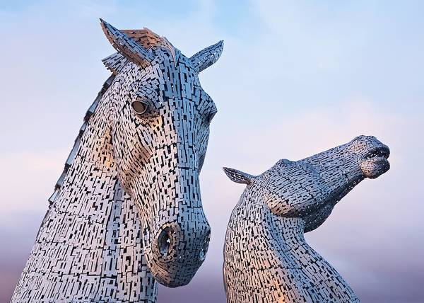 Photograph - Sunset At The Kelpies by Stephen Taylor
