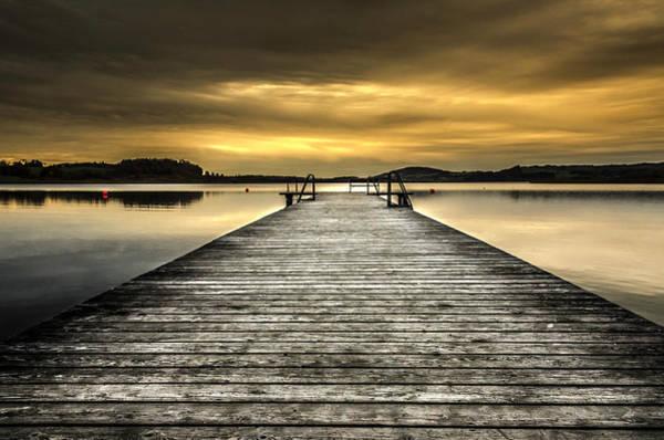Photograph - Sunset At The Lake At Home by Wolfgang Stocker