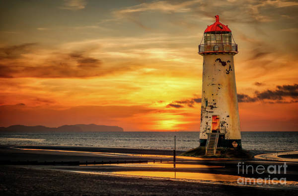 Wall Art - Photograph - Sunset At The Lighthouse by Adrian Evans