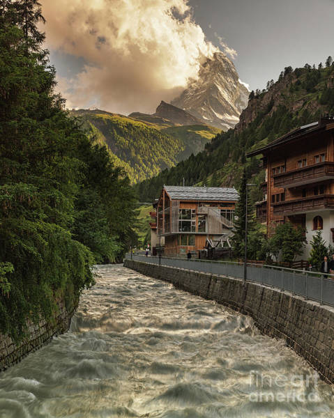 Photograph - Sunset At The Matterhorn In Switzerland by Alissa Beth Photography