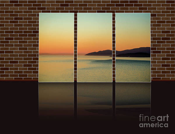 Wall Art - Photograph - Sunset At The Ocean In The Triple by Viktor Birkus