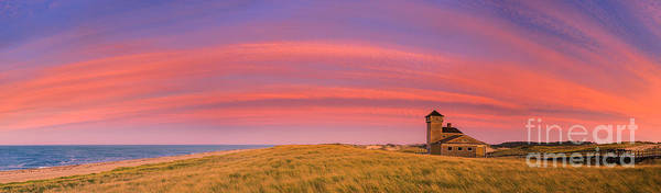 Wall Art - Photograph - Sunset At The Old Harbor Us Life Saving Station At Race Point, P by Henk Meijer Photography