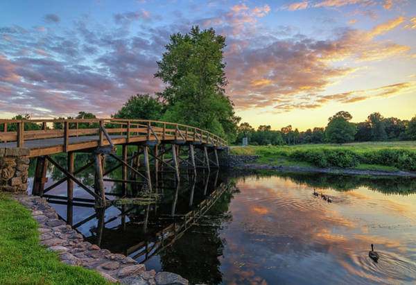 Photograph - Sunset At The Old North Bridge by Kristen Wilkinson