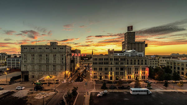 Photograph - Sunset At The Old Pabst Brewery by Randy Scherkenbach