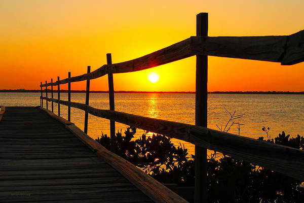 Photograph - Sunset At The Pier by Susan Vineyard